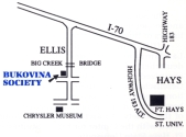 Bukovina Society Headquarters, Ellis, KS map